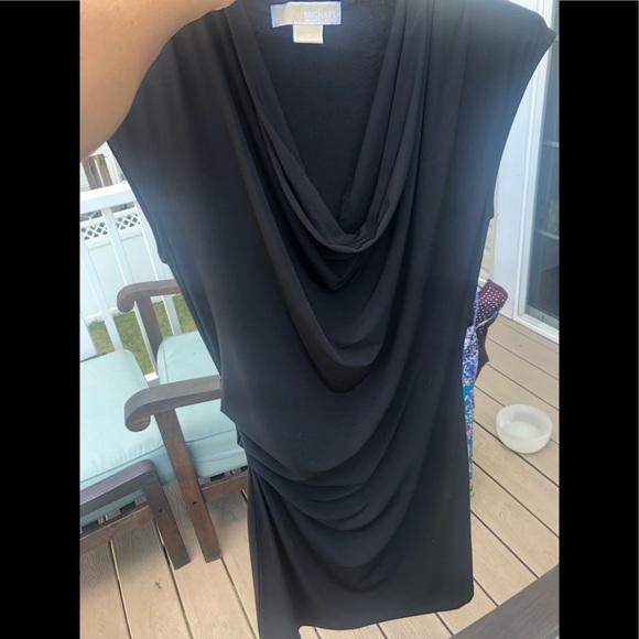 Michael Kors Dresses & Skirts - Michael Kors Black Draped Dress